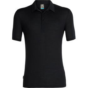 Icebreaker Solace Polo manches courtes Homme, black